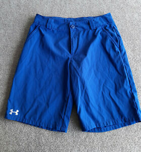 Under Armour Golf Shorts Youth Size Large Blue Outdoor $13.24