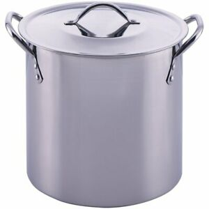 Stainless Steel Pot With Lid Cooking Kitchen Soup Stew Sauce Stockpot 8 Quart