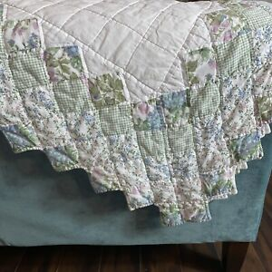 """VTG Cozy Hand amp; Machine Sewn Quilt 78"""" X 78"""" Approx. Square Lovely Country Charm $67.75"""