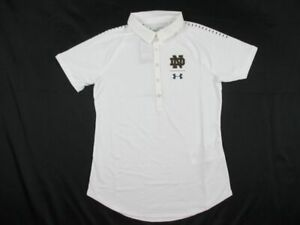 Notre Dame Fighting Irish Under Armour Polo Womens White New without Tags $41.99