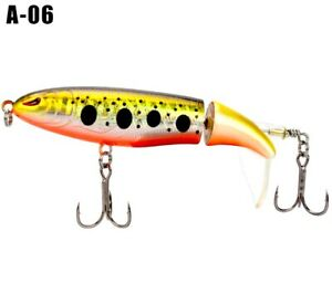 Whopper Plopper Topwater Floating Fishing Lures Rotating Tail A 06