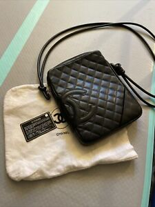 CHANEL Cambon Line Quilted CC Cross Body Bag 9799688 Purse Black Leather $1699.00