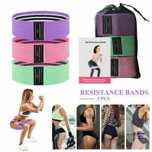 3 Pcs Resistance Bands Strength Training Fitness Gym Exercise Home Yoga Pilates $5.99