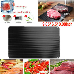 9 Defrosting Tray Fast Rapid Thawing Safe Defrost Meat Thaw Frozen Food Kitchen