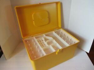 Vintage Wilson Wil Hold Plastic Sewing Box Basket 2 trays $45.00