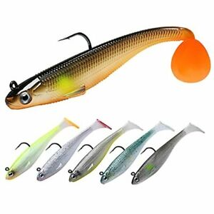 Fishing Lures Shad Soft Swimbaits Pre Rigged or DIY Fishing A 3.5quot; 0.45oz