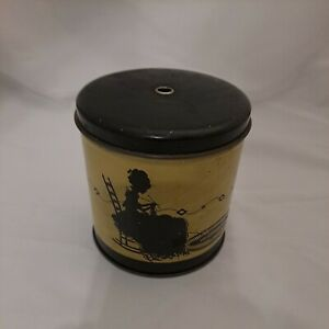 Vintage Tin Can Yarn String Holder Sewing Notions $8.99