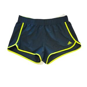 Adidas Running Shorts Womens Size M Athletic Green Fitness Track 3quot; Inseam $14.50