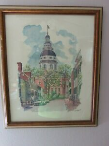 Two 2 Plate Signed Lithographs W.H. Bond Cornhill Street Annapolis 1969 $99.99