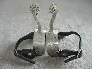 Vintage KELLY Marked RODEO Cowboy SILVER SPURS Chunky 1 1 2 W Heel Band