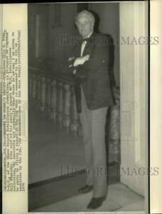 1976 Press Photo Otis Pike of the House Intelligence Committee at Capitol Hill