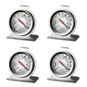 Stainless Steel Refrigerator Freezer Thermometer Large Dial Thermometer 4 pack