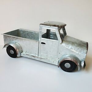 Silver Pickup Truck Decor Approx 12quot; Metal Farmhouse Rustic Barn Old Table New $18.95