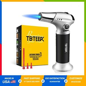 Kitchen Torch Fit All Tanks Butane Torch Cooking Torch Safety Lock Cooking BBQ