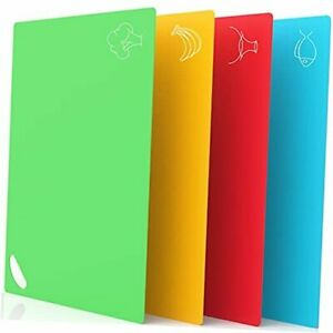 Extra Thick Plastic Cutting Boards for Kitchen Dishwasher Safe Non SIip $20.03