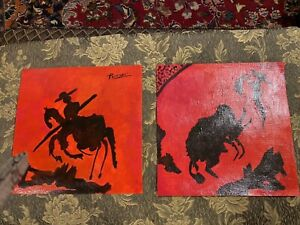 One of a kind original painting signature quot;Picassoquot; has provenance stamps on $950.00