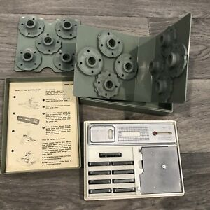 Vintage Sears Kenmore Sewing Machine Accessories Box Cams Buttonholer Attachment $29.99