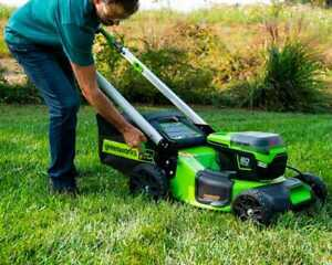 Greenworks Pro 60V Lithium Ion Push 21quot; Cordless Electric Lawn Mower Tool Only $200.00