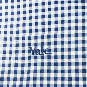 Yale Peter Millar Blue and White Plaid Long Sleeve Large Button Down $25.00
