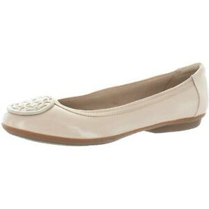 Clarks Collection Womens Gracelin Lola Patent Leather Round Toe Ballet Flats $31.49