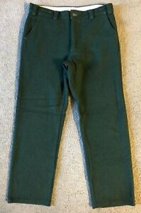 VTG Codet Men#x27;s Green Wool Hunting Pants Size 34 x 30 Made in Canada
