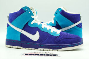 NIKE DUNK HIGH SB USED SIZE 9 OCEANIC AIRLINES GERMAN BLUE WHITE 305050 400