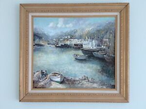 Willi Bauer Rare Oil Painting on Canvas Signed Framed Artwork. Great Price $999.00