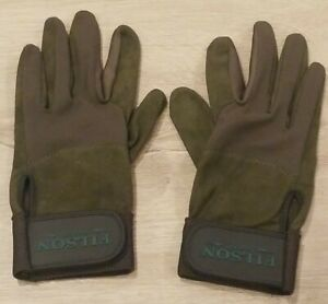 Filson Suede and Mesh Gloves Small for Hunting Shooting Riding or Work NWOT