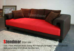 NEW MODERN EURO DESIGN LEATHER SOFA S3041BR