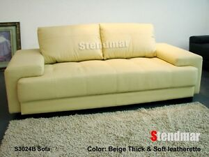 NEW MODERN EURO DESIGN LEATHER SOFA S3024