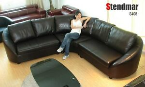 3PC NEW MODERN EURO DESIGN LEATHER SECTIONAL SOFA S408