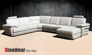 4PC NEW MODERN DESIGNER LEATHER SECTIONALS SOFA S291