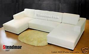 3PC MODERN MODERN DESIGN SECTIONAL LEATHER SOFA S687E