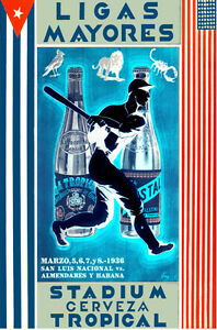 Cuban Baseball POSTER.Stylish Graphic.Tropical Team.kitchen Wall room Decor.673i