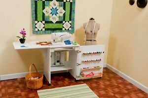 Arrow Sewnatra White Sewing Cabinet Table $699.00