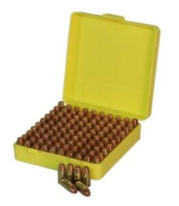 New Ammo Box 100Rnd 9mm etc Ammunition Safe Gun Bullet Case Security Hunt Small