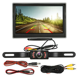 Car Backup Camera Rear View HD Parking System w Night Vision+5
