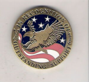 CHALLENGE COIN COMBINED FEDERAL CAMPAIGN CHERY POINT AREA 2007 OUTSTANDING SUPPO