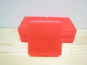 9mm38032ACP 100rd Plastic Ammo BoxCase RED 5ct Berry's MFG