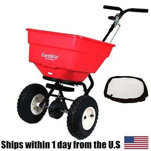 Earthway 2170 Commercial Broadcast 100lb Spreader & 77002 Heavy Duty Rain Cover
