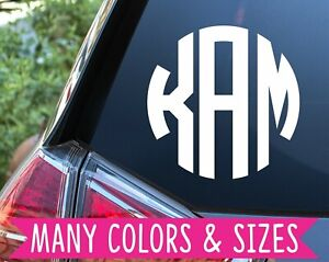 Personalized Monogram Circle Ring Letter Vinyl Decal