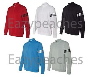 ADIDAS GOLF - Mens S-3XL 14 Zip FRENCH TERRY CLIMALITE Pullover Jacket Shirt