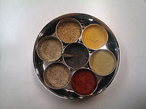 Hammered Finish Stainless Steel Indian Spice Box
