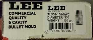 Lee Precision 6 Bullet Cavity Mold 358 diameter TL-358-158-SWC  #90295 NIB