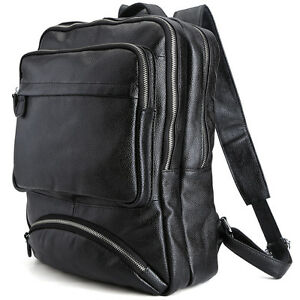 Men's Cow Leather Backpack 14