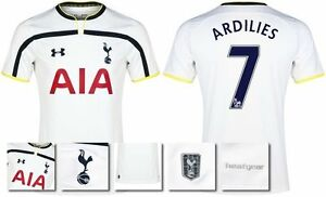 *14  15 - UNDER ARMOUR ; TOTTENHAM HOME SHIRT SS  ARDILIES 7 = KIDS SIZE*