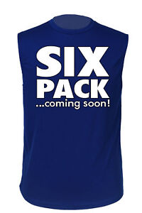 MEN'S ATHLETIC SLEEVLESS SHIRT Six Pack ...Coming Soon DRI FIT WORKOUT FUNNY TOP