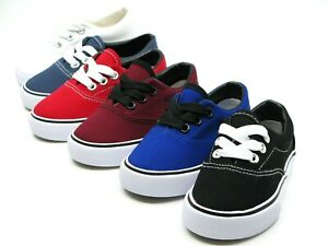 New Lace Up Low Top Canvas Toddler Baby Boys Or Girls Shoes SZ 4 9 $12.95