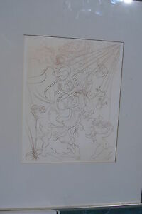 Dali etching 1970 vintage rare title autumn edition 1000 plate sign fields 70 2 $650.00