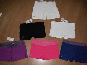 Under Armour Womens' Heat Gear 2 4 OR 7 Inch Compression ShortsMSRP $25-$28